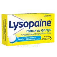 LysopaÏne Comprimés à Sucer Maux De Gorge Sans Sucre 2t/18 à Paray-le-Monial