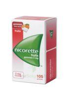 Nicorette 2 mg Gomme à mâcher médicamenteuse sans sucre fruits Plq/105 à Paray-le-Monial