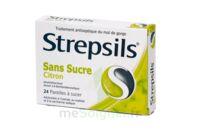 STREPSILS CITRON SANS SUCRE, pastille édulcorée à l'isomalt, au maltitol et à la saccharine sodique à Paray-le-Monial
