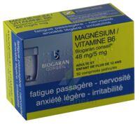 Magnesium/vitamine B6 Biogaran Conseil 48 Mg/5 Mg, Comprimé Pelliculé à Paray-le-Monial