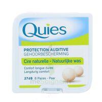 QUIES PROTECTION AUDITIVE CIRE NATURELLE 8 PAIRES à Paray-le-Monial