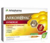 Arkoroyal Dynergie Ginseng Gelée royale Propolis Solution buvable 20 Ampoules/10ml à Paray-le-Monial