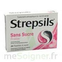 STREPSILS FRAISE SANS SUCRE, pastille édulcorée à l'isomalt, au maltitol et à la saccharine sodique à Paray-le-Monial