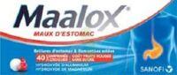 MAALOX MAUX D'ESTOMAC HYDROXYDE D'ALUMINIUM/HYDROXYDE DE MAGNESIUM 400 mg/400 mg SANS SUCRE FRUITS ROUGES, comprimé à croquer édulcoré à la saccharine sodique, au sorbitol et au maltitol à Paray-le-Monial