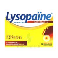 LYSOPAÏNE AMBROXOL 20 mg Pastilles maux de gorge sans sucre citron Plq/18 à Paray-le-Monial