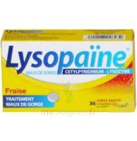 LYSOPAÏNE MAUX DE GORGE CETYLPYRIDINIUM LYSOZYME FRAISE SANS SUCRE, comprimé à sucer édulcoré au sorbitol et à la saccharine à Paray-le-Monial