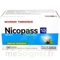 Nicopass 1,5 Mg Pastille Sans Sucre Menthe Fraîcheur Plq/96 à Paray-le-Monial