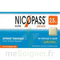 Nicopass 2,5 Mg Pastille Menthe Fraîcheur Sans Sucre Plq/36 à Paray-le-Monial