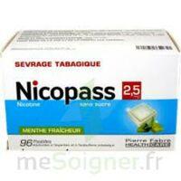 Nicopass 2,5 Mg Pastille Menthe Fraîcheur Sans Sucre Plq/96 à Paray-le-Monial