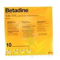 Betadine Tulle 10 % Pans Méd 10x10cm 10sach/1 à Paray-le-Monial