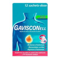 GAVISCONELL Suspension buvable sachet-dose menthe sans sucre 12Sach/10ml à Paray-le-Monial