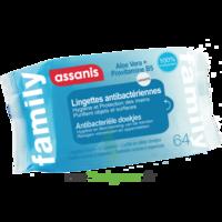 Assanis Family Lingette Antibactérien Mains Pochette/64 à Paray-le-Monial